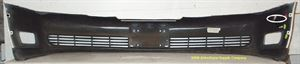 Picture of 2000-2005 Cadillac Deville/Concours (fwd) base Luxury; w/o fog lamps Front Bumper Cover