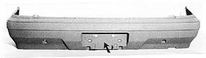 Picture of 1984-1987 Honda Civic 4dr wagon; 4WD Rear Bumper Cover