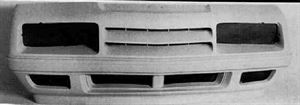 Picture of 1984-1987 Dodge Omni/Charger/Shelby/ OMNI/CHARGER/SHELBY/024 except Shelby; w/o air dam holes Front Bumper Cover