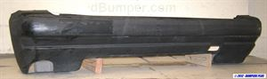 Picture of 1997 Geo Tracker w/soft top; gloss black (paintable) Rear Bumper Cover